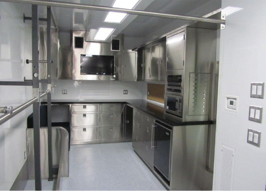 RagVan Rentals Costume Trailers Interior Kitchen